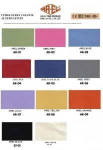 Fotele lekarskie Paleta kolorów
